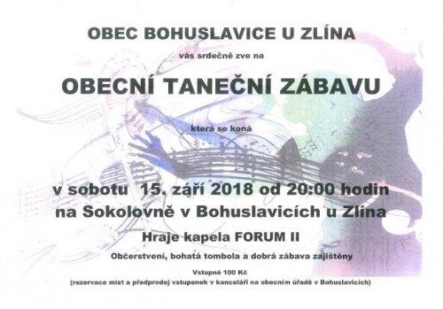Taneční zábava Bohuslavice