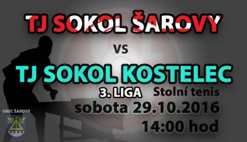 "TJ Sokol Šarovy ""A"" - TJ Sokol Kostelec ""A"""
