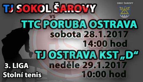 """TJ Sokol Šarovy """"A"""" - TTC Poruba Ostrava, TJ Ostrava KST """"D"""""""